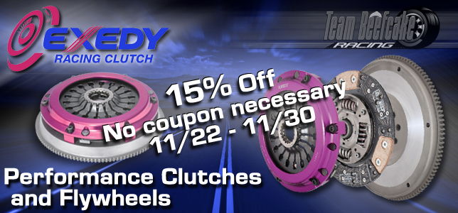 Exedy Racing Black Friday Sale