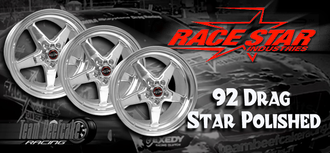 Race Star Drag Star Wheels Polished